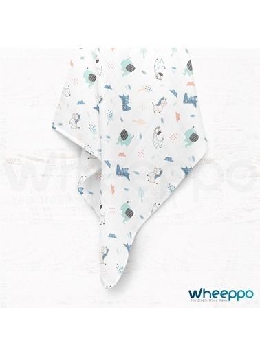 Wheeppo Sevimli Hayvanlar  Müslin Örtü  120*120 Cm Renkli